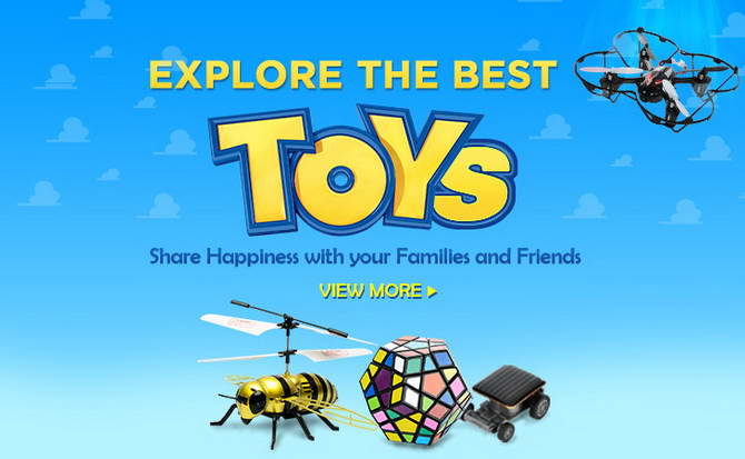 explore the best toys at dealextreme
