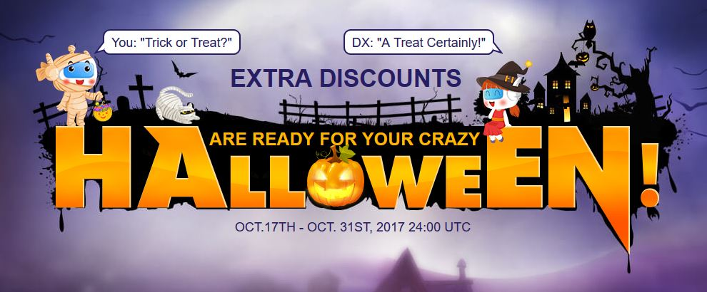Halloween 2017 extra discounts (October 2017)