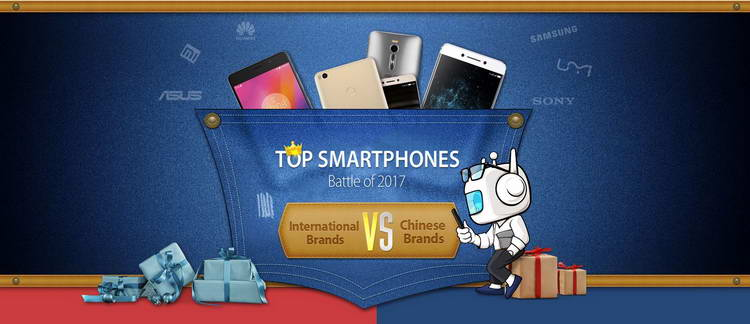 top smart phones battle 2017 china vs international phones